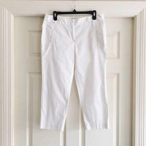 Ann Taylor LOFT Cropped White Pants 8